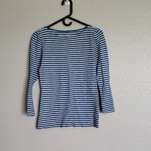 J. Crew Blue & White Striped Painters Tee